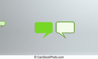 many green conversation icons