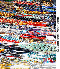 handmade necklace of beads or wood for sale in African products