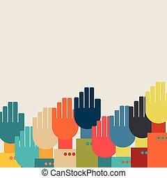 many hands.