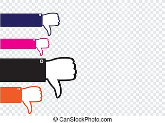 many hands show dislike - Many hands show dislike on...