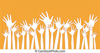 Many happy hands.