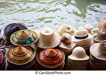 Many hats for sale