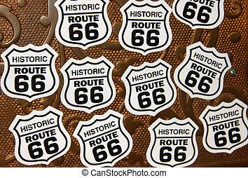 Historic route 66 symbols