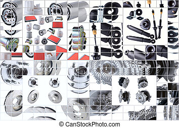 Many images of new spare parts kit - Set of many images of...