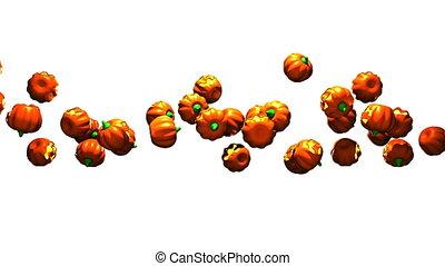 Jack O Lanterns on white background - Many Jack O Lanterns...