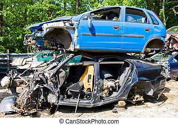 junk cars in a junkyard - many junk cars in a junkyard ...