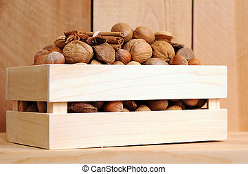 nut in crate