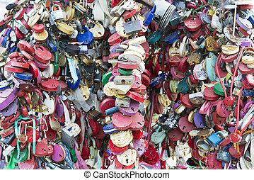 Many locks on the tree.