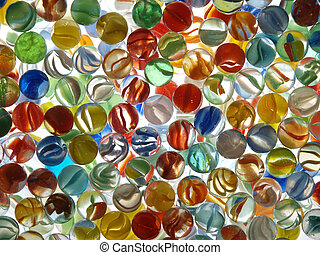 Many Marbles - Brightly colored backlit translucent marbles ...