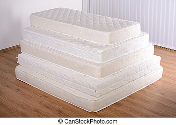 Many mattresses - Many mattress in a pyramid in the room