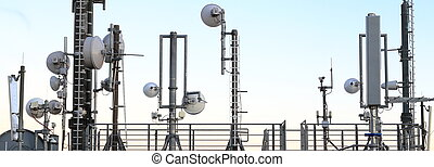 Mobile phone Masts and transmission towers - Many Mobile...