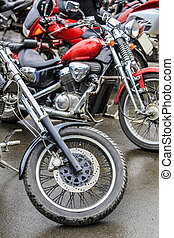 motorcycles on parking - many motorcycles on parking on ...