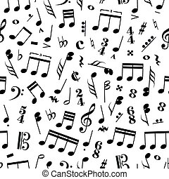 Many music signs and note on white background