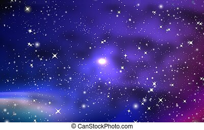Many nebulae and stars in the galaxy
