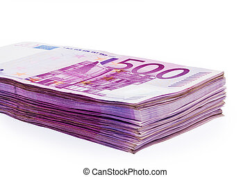 Many of € 500 banknotes money - € 500 banknotes are a lot of...