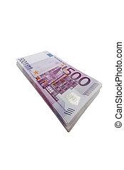 five hundred euro banknotes