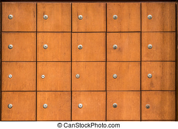 Many of the ancient wooden drawers background