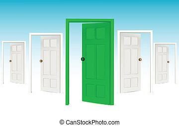 many open doors