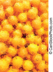 Many orange abstract background polygon.
