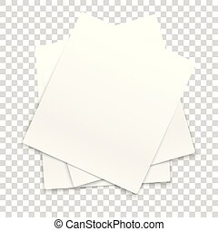 Many paper frames isolated on transparent background