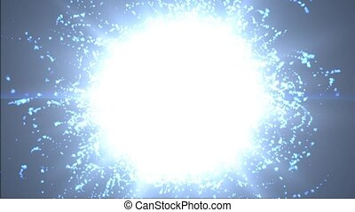 Many particles. Atomic particles. The motion of particles in space
