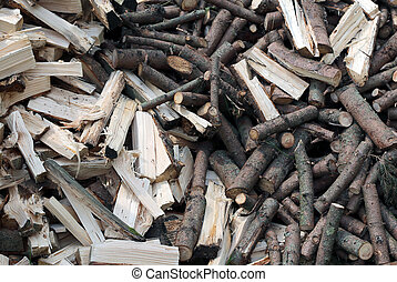 many pieces of wood to burn in the stove to keep warm