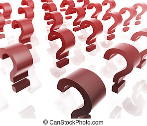 Many question marks - Question mark illustration glossy...