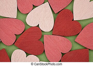 Many red and pink hearts