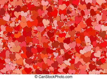 many red hearts backgrounds of Love symbol