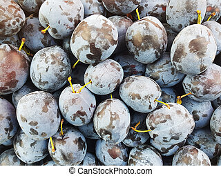 many ripe plums
