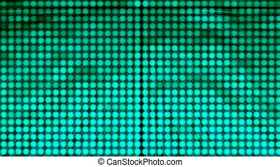 Many rows of balls changing color and rays - modern abstraction, computer generated background, 3D render