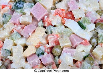 many salad