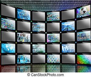 many screens