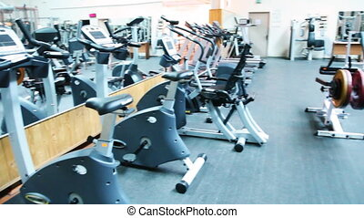 many simulators in large gym