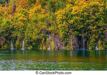 Many small waterfalls