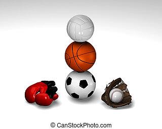 Many sports balls