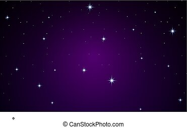 Many stars on a purple background