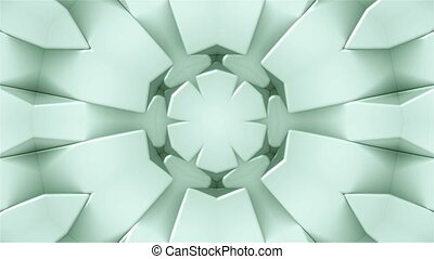 Many symmetrical kaleidoscopes as flowers - fractal 3d...