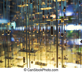 Many test tubes