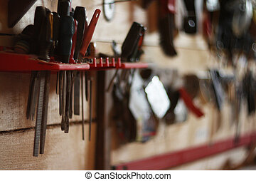 Many tools in workshop