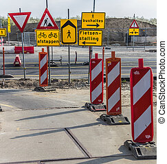 Many traffic signs