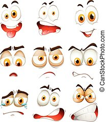 Many type of facial expressions