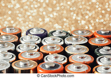 Many various batteries.