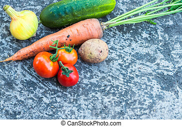 many vegetables close