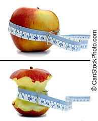 manzana, antes