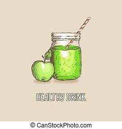 manzana, bebida sana