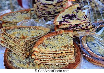 manzana, checo, dulce, pastel, (and, fruits), (cake), otro