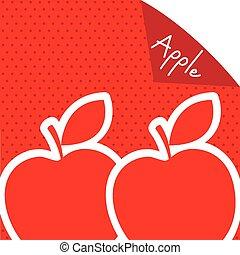 manzana, etiqueta