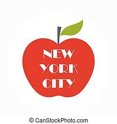 manzana grande, ilustración