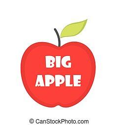 manzana grande, rojo